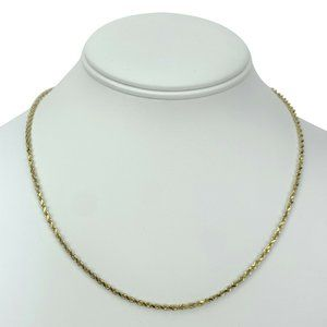Jewelry - 14k Gold 8g Solid 2.5mm Rope Chain Necklace 18""